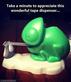 Awesome Pascal tape dispenser. I actually own this. And it's adorable. It came from Office Depot.