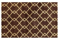 Chelsea Rug, Chocolate/Light Gold on OneKingsLane.com