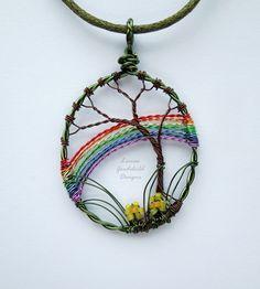 Spring Rainbow wire tree pendant wire rainbow pendant