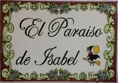 Address Plaque, Decoupage, Villa, Crafts, Licence Plates, Tile Murals, Slab Pottery, Painted Tiles, Flower Decorations