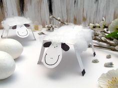 Húsvéti bárány papírból és vatelinből