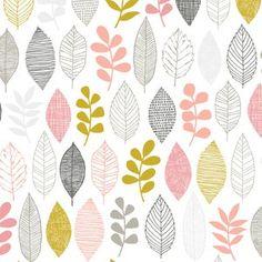 Eloise Renouf - First Light Flannel - Leaf Sampler FLANNEL in Pink