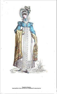 1818 Regency Fashion Plate - Walking Dress  (La Belle Assemblee Magazine) by CharmaineZoe, via Flickr