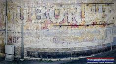 Our Photography series this week starts with a classic Dubonnet wall advert in Montrichard.   #Travel #Montrichard #Loire #Cher #LoireValley  #France  Office de Tourisme Val d'Amboise La Touraine Loire Valley SNCF Voyages-sncf.com My Loire Valley