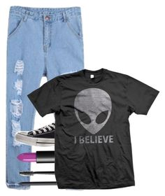 """""""I Believe"""" by amolitor ❤ liked on Polyvore featuring NARS Cosmetics and Converse"""