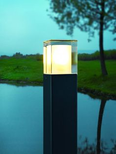 NORLYS Arendal black steel and tempered glass bollard - Price: $869.00 AUD