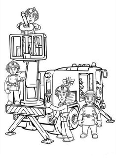 coloring page Fireman Sam on Kids-n-Fun. Coloring pages of Fireman Sam on Kids-n-Fun. More than coloring pages. At Kids-n-Fun you will always find the nicest coloring pages first! Truck Coloring Pages, Online Coloring Pages, Cool Coloring Pages, Cartoon Coloring Pages, Printable Coloring Pages, Coloring Pages For Kids, Adult Coloring, Coloring Books, Firefighters