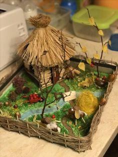Осенняя поделка Rainy Day Crafts, Autumn Crafts, Fall Crafts For Kids, Diy Crafts For Gifts, Decor Crafts, Diy For Kids, Home Crafts, Crafts To Make, Paper Crafts