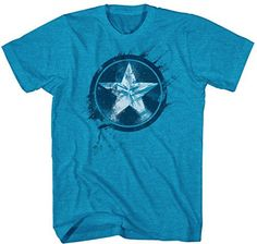 Captain America Painted Shield Mens Turquoise Heather Tshirt XL ** To view further for this item, visit the image link.