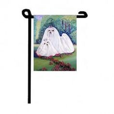 Maltese Love The Spring Lilacs Flag Man Card, Maltese Dogs, Lilacs, Flag, Spring, Cards, Gifts, Painting, Favors