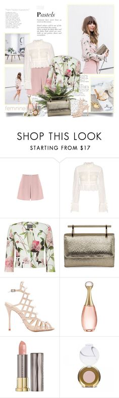 """""""Feminine Pastel"""" by thewondersoffashion ❤ liked on Polyvore featuring MANGO, Valentino, Philosophy di Lorenzo Serafini, Phase Eight, M2Malletier, Schutz, Christian Dior, Urban Decay and Jane Iredale"""