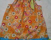 Orange Bird Pillowcase Dress