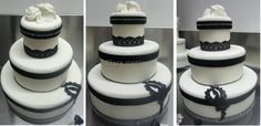Black White Marriage Cake di Clara pasticcia