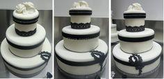 Black White Marriage Cake di Clara pasticcia