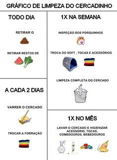 LIMPEZA DO CERCADINHO, CRONOGRAMA!!!!!