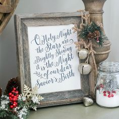 O Holy Night, 30 Free Christmas Printables via A Blissful Nest Christmas Signs, Winter Christmas, All Things Christmas, Christmas Holidays, Christmas Decorations, Christmas Ideas, Holiday Decorating, Christmas Booth, Merry Christmas