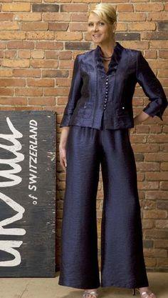 plus size mother of bride pant suits   Mother of the Bride Pant Suit Ursula Formal Pant Set 13045 image