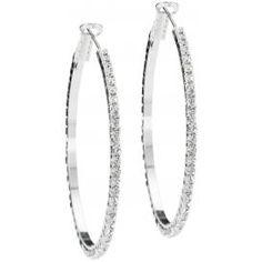 Jessica Rhinestone Hoop Earrings Prom Jewelry, Bridal Jewelry, Bridesmaid Jewelry, Prom Accessories, Glitz And Glam, Fashion Earrings, Hoop Earrings, Wedding Rings, Engagement Rings