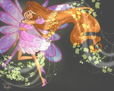 Flora Roylix Power by Tjibi on DeviantArt Les Winx, Flora Winx, Drawing Anime Clothes, Animated Cartoons, Winx Club, Anime Outfits, Kawaii, Winter Wonderland, Line Art