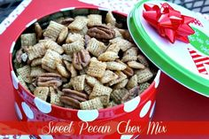 Mommy's Kitchen - Country Cooking & Family Friendly Recipes: Sweet Pecan & Peanut Butter Blossoms Chex Party Mix