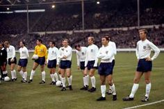 England line up at Wembley to face Portugal in the 1966 World Cup Semi Final.