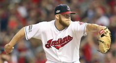 Cleveland Indians closer Cody Allen pitching in the 9th inning in the first ALDS game against the Boston Red Sox on Oct. 6, 2016 at Progressive Field.   Indians won 5-4.   (Chuck Crow/The Plain Dealer)