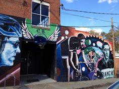 Street art Richmond VA. Behind the bike shop on Cary street