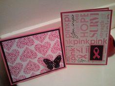 Handmade Breast Cancer Cards  Breast Cancer by Ladybugbronxny, $8.00