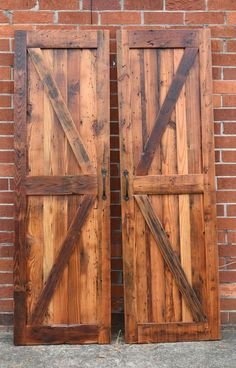 We now offer custom made sliding barn doors. They are a great way to add a rustic or industrial charm to your home almost any wall, as long as you have room for them to slide! Check out or website for more information and to order your barn doors today! Barn Door Closet, Diy Sliding Barn Door, Diy Barn Door, Diy Door, Barn Door Hardware, Sliding Doors, Barn Door Designs, Shed Doors, Rustic Doors