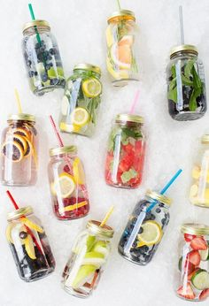 I am a big water drinker. I drink at least 70 ounces of water each day and sometimes I want something a bit more fun and helpful than just plain water. In comes delicious detox water which is not only hydrating but helps clear skin, lose weight, reduce bloat, and more!