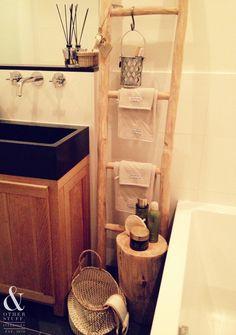 Houten ladder badkamer! @ my place!! & other stuff. Interiors ...
