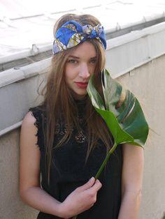 Headband Agatha coton tissu wax par totparis sur Etsy