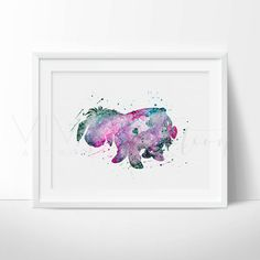 Eeyore Print Winnie the Pooh Disney Watercolor von VIVIDEDITIONS