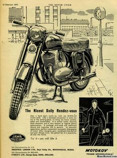 Cool Motorcycles, Vintage Motorcycles, Moto Jawa, Vintage Bikes, Retro Vintage, Jawa 350, Bike Sketch, Motorcycle Posters, Graphic Projects