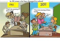 in 50 years a lot has changed in school