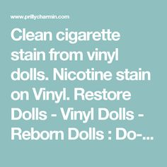 Doll repair manual refinishing restringing mending doll ebay clean cigarette stain from vinyl dolls nicotine stain on vinyl restore dolls vinyl solutioingenieria Image collections