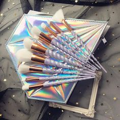 "10pcs unicorn pro make-up brushes + laser diamond bag SE10370 Coupon code ""cutekawaii"" for 10% off"