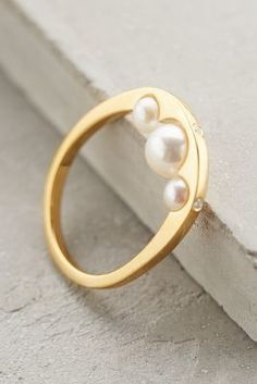 Gold Philosophy Pearl Cove Ring  #anthrofave #anthropologie