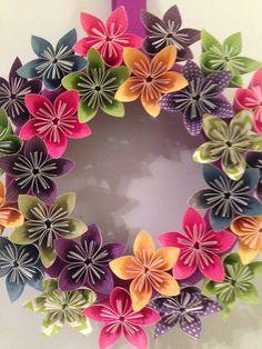 Märchen Origami Papier Blumen Kranz / Hochzeit von kreationsbykia