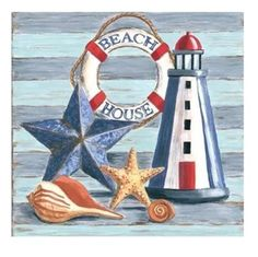 Diamond Painting Lighthouse Starfish Beach House Paint with Diamonds Art Crystal Craft Decor - Trendswoman Beach Crafts, Diy And Crafts, Et Wallpaper, Lighthouse Painting, Beach Cottages, Beach Houses, Decoupage Paper, Deco Design, Beach House Decor