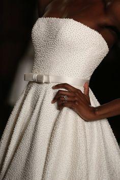 Ramona Keveza Textured wedding gown
