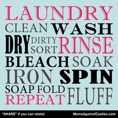 """Sometimes it feels like laundry never ends! """"PIN"""" if you can relate!"""