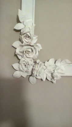 Plaster of Paris rose frame