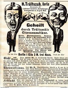 Werbung - Original-Werbung/ Anzeige 1901 - CITRONENSAFTKUR / TRÜLTSZCH - BERLIN - ca. 90 x 115 mm