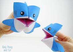 Invista em tubarão de papel para brincar com os seus pequenos (Foto: easypeasyandfun.com)