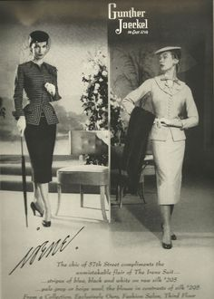 Irene Suit 1955 from www.irene-lentz.com