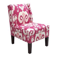 Priay Slipper Chair in Raspberry