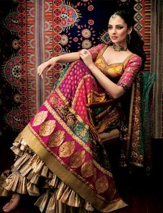 ritu kumar design indian bride - loved and pinned by www.omved.com