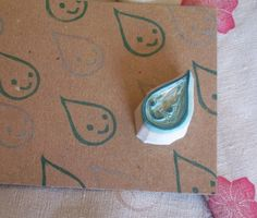 I love hand carved rubber stamps!
