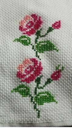 This Pin was discovered by Şev Xmas Cross Stitch, Butterfly Cross Stitch, Cross Stitch Rose, Cross Stitch Borders, Cross Stitch Flowers, Cross Stitch Designs, Cross Stitch Embroidery, Hand Embroidery, Cross Stitch Patterns